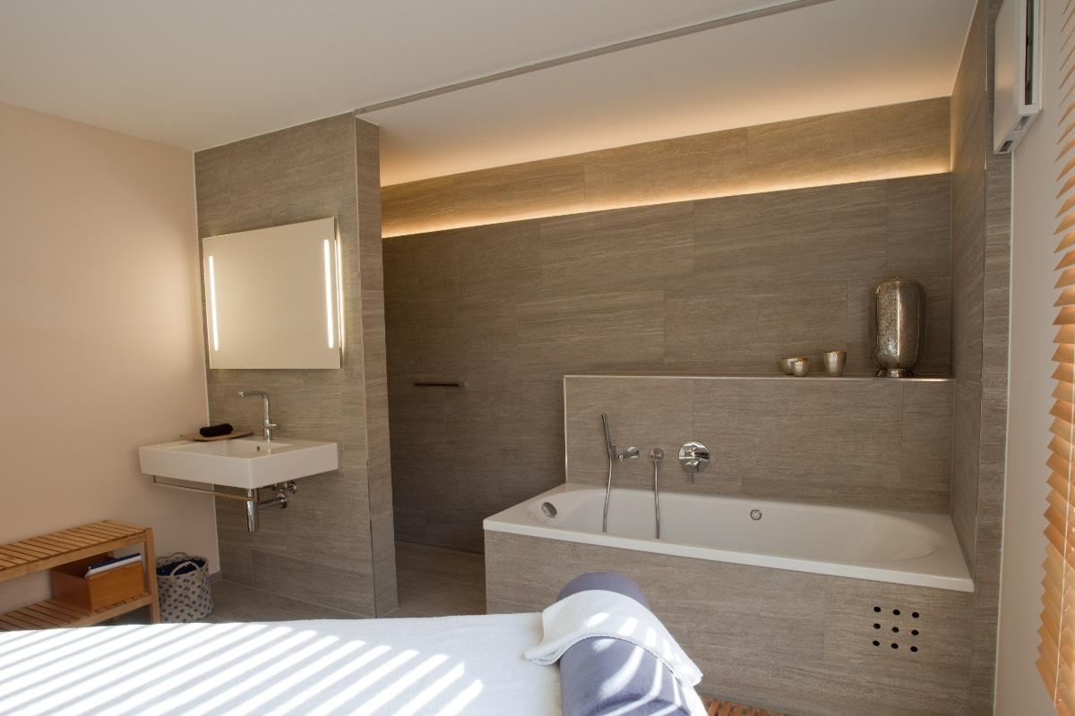 Infraroodspiegel badkamer